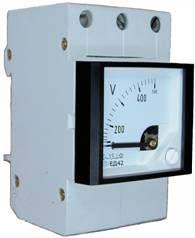 Прибор переменного тока ЕД-42 на Din-рейку амперметры, миллиамперметры, килоамперметры, вольтметры, киловольтметры