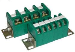 Зажим наборный проходной ЗН28-4П, ЗН28-16П и блок зажимов БЗН28-П